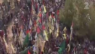 جنازة ريهام دوابشة في بلدة دوما الواقعة في الضفة الغربية في 7 سبتمبر، 2015. (لقطة شاشة: القناة 2)