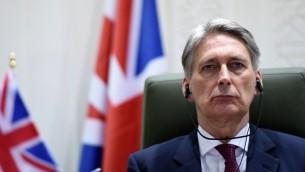 وزير الخارجية البريطاني فيليب هاموند، 23 مارس 2015 (Fayez Nureldine/AFP)
