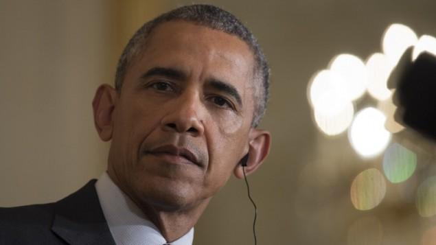 الرئيس الأمريكي باراك اوباما خلال مؤتمر صحفي في البيت الأبيض، 16 اكتوبر 2015 (BRENDAN SMIALOWSKI / AFP)