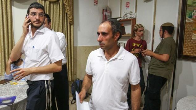 حغاي عمير، خلال مراسيم احياء ذكرى موت مئير كهانا في القدس، 1 نوفمبر 2012 (Oren Nahshon / FLASH90)