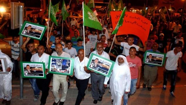 مسيرة للحركة الإسلامية في رهط عام 2013. (Dudu Greenspan/Flash90)