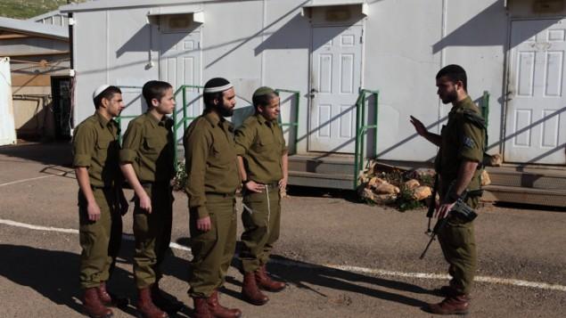 """صورة توضيحية لجنود تابعين لوحدة """"نيتساح يهودا"""" في الجيش الإسرائيلي. (Yaakov Naumi/Flash90)"""