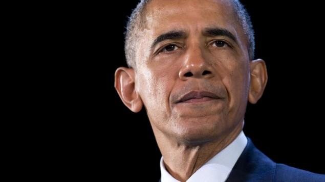 الرئيس الأمريكي باراك اوباما خلال القمة السنوية لمنتدى التعاون الاقتصادي لدول آسيا والمحيط الهادئ (ابيك) في مانيلا، الفليبين، 18 نوفمبر 2015 (SAUL LOEB / AFP)