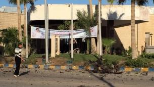 فندق سويس ان في العريش، كبرى مدن شمال سيناء، حيث نفذ تنظيم ولاية سيناء هجوم قتل فيه سبعة اشخاص، 24 نوفمبر 2015 (AFP)