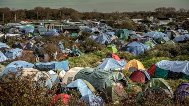 مخيم لاجئين في كاليه شمال فرنسا، 5 نوفمبر 2015 (PHILIPPE HUGUEN / AFP)