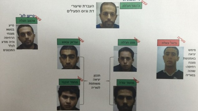 """سبعة عرب من إسرائيل خططوا للسفر إلى سوريا للمحاربة في صفوف تنظيم """"الدولة الإسلامية"""". فقط واحد منهم نجح في اجتياز الحدود من هضبة الجولان بواسطة مظلة شراعية في أكتوبر 2015. (جهاز الأمن العام الشاباك)"""