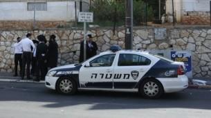 صورة توضيحية لسيارة شرطة اسرائيلية (Flash90)