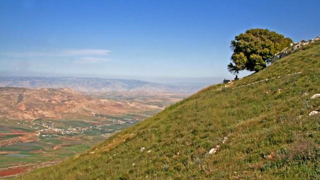 الجبل الكبير ووادي تيرتسا شمال الضفة الغربية. (Tamar Hayardeni/Wikimedia Commons)