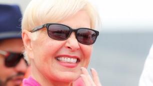 الممثلة روزان بار، 15 مايو 2015 (Monika Fellner/Getty Images/JTA)