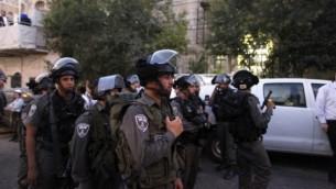 صورة توضيحية لشرطة حرس الحدود. (Flash90)