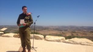 الجنرال هرتسل هليفي، خلال توليه منصب قيادة كتيبة الجليل في الجيش الإسرائيلي (Mitch Ginsburg/The Times of Israel)