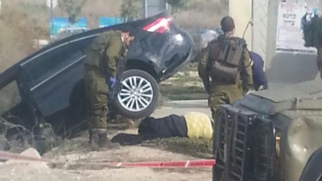موقع محاولة هجوم طعن نفذتها شابة فلسطينية، نقلا عن الشرطة. (المتحدث بإسم المجلس الإقليمي السامرة).