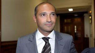 (ارشيف) نجل وزير الخارجية الفرنسي لوران فابيوس، توما فابيوس، 1 يونيو 2011 (BERTRAND GUAY / AFP)