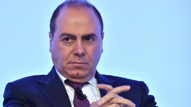 وزير الداخلية سيلفان شالوم خلال مشاركته في حوارات حوض المتوسط (MED)، مؤتمر يمتد على ثلاثة أيام حول الأمن في منطقة حوض المتوسط.  (PHOTO/ALBERTO PIZZOLI)
