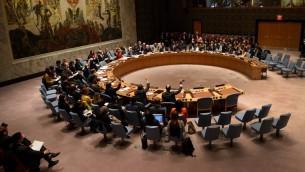 جلسة لمجلس الامن الدولي في مقر الأمم المتحدة في نيويورك، 10 ديسمبر 2015 (AFP/Don Emmert)