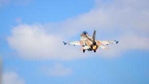 طائرة اف 16 اسرائيلية (Hagar Amibar/Israeli Air Force)