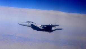 صورة توضيحية لطائرات حربية اسرائيلية من طراز اف 15 خلال تدريب 'العلم الازرق'، 21 اكتوبر 2015 (Israeli Air Force)