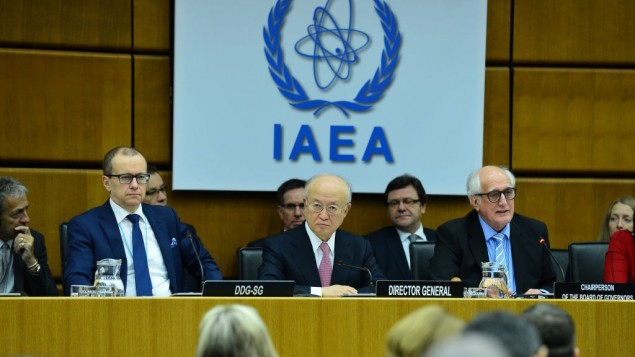 مجلس حكام الوكالة الدولة للطاقة الذرية خلال جلسة في النمسا، 15 ديسمبر 2015 (Dean Calma / IAEA)