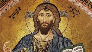 فسيفساء ليسوع المسيح بطراز بيزنطي من كنيسة تشفالو، صقليا (Andreas Wahra / Wikipedia)