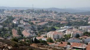 مستوطنة أريئيل في الضفة الغربية.  (Gili Yaari/FLASH90)