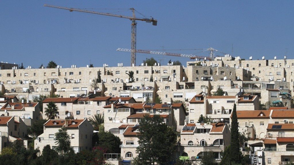 البناء في حي غيلو في القدس (Uri Lenz / Flash90)
