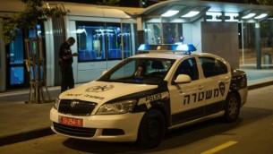 صورة توضيحية لمركبة تابعة للشرطة الإسرائيلي في القدس، يونيو 2012. (Uri Lenz/Flash90)