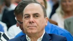 وزير الداخلية سيلفان شالوم، 6 اكتوبر 2015 (Moshe Shai/FLASH90)