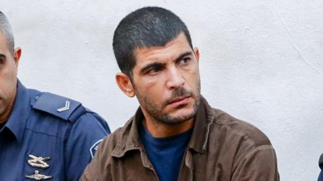 رائد مسالمة، 36، في المحكمة المركزية في تل ابيب، 2 ديسمبر 2015 (Flash90)