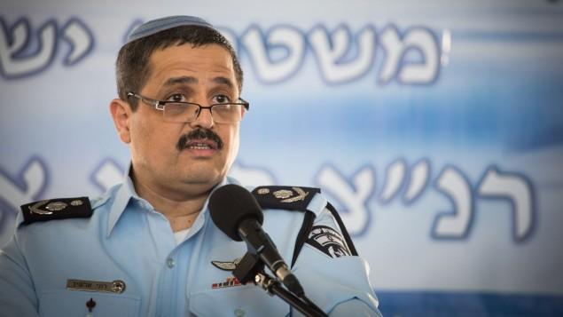 قائد الشرطة روني الشيخ، في مقر الشرطة، القدس، 03 ديسمبر 2015 (Hadas Parush/FLASH90)