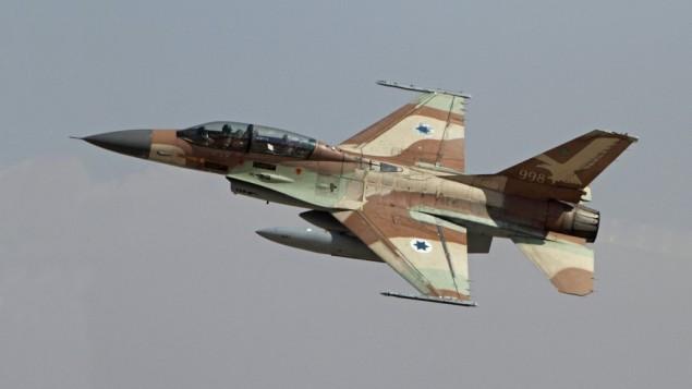 طائرة حربية إسرائيلية من طراز اف-16. (Ofer Zidon/Flash90)
