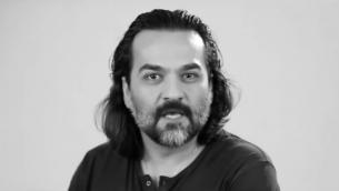 المغني والشاعر الإيراني ياغما غولروي (screen capture: YouTube)