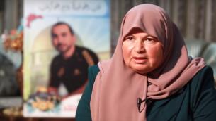 زينات الجلاد (64 عاما) من سكان القدس، إعتقلتها إسرائيل بشبهة علاقات مع الفرع الشمالي للحركة الإسلامية، 9 ديسمبر، 2015. (لقطة شاشة: YouTube)