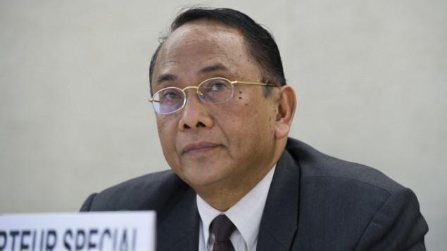مقرر الامم المتحدة الخاص لوضع حقوق الانسان في الاراضي الفلسطينية مكارم ويبيسونو، 23 يوليو 2014 (UN/Violaine Martin)