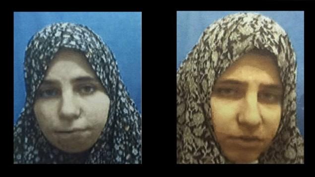 ديانا حويلة (يسار) وناديا حويلة، اخوات توأم من مدينة طول كرم الفلسطينية، اعتقلتهما قوات الامن الإسرائيلية في شهر ديسمبر 2015 لصناعة قنابل بهدف استخدامها في هجمات، كشف الشاباك في 25 يناير 2016 (Shin Bet)