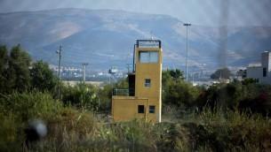 برج مراقبة في شمال غور الاردن (Moshe Shai/Flash90)