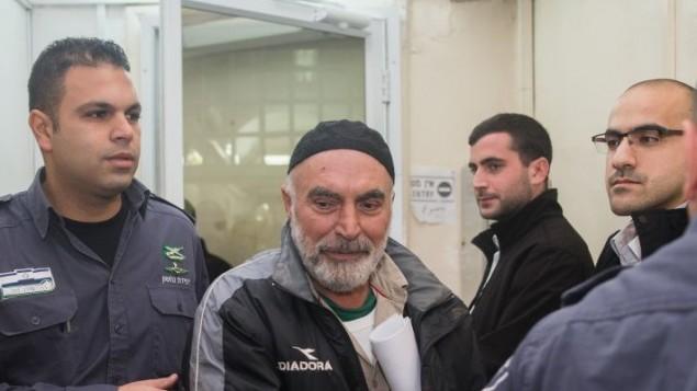 عزرا ناوي في محكمة الصلح في القدس، 24 يناير 2016 (Yonatan Sindel/Flash90)