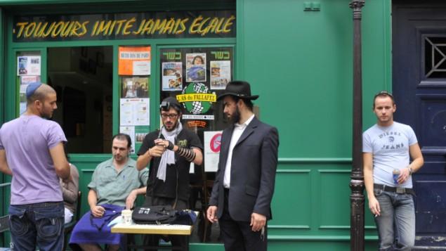 صورة توضيحية ليهود في فرنسا (Serge Attal/Flash 90)