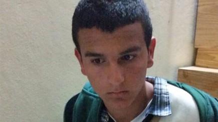 مراد دعيس (15 عاما) المتهم بقتل دفنا مئير واعتقل في 17 يناير 2016 (Courtesy)