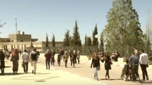 جامعة بير زيت، شمال رام الله (YouTube screenshot)