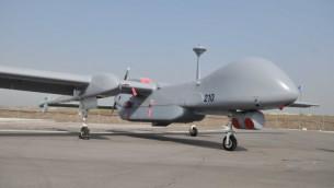 طائرة إسرائيلية بدون طيار من طراز 'إيتان' (Yossi Zeliger/FLASH90)