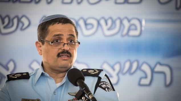 المفوض العام للشرطة روني الشيخ، في مقر الشرطة في القدس، 3 ديسمبر، 2015. (Hadas Parush/Flash90)