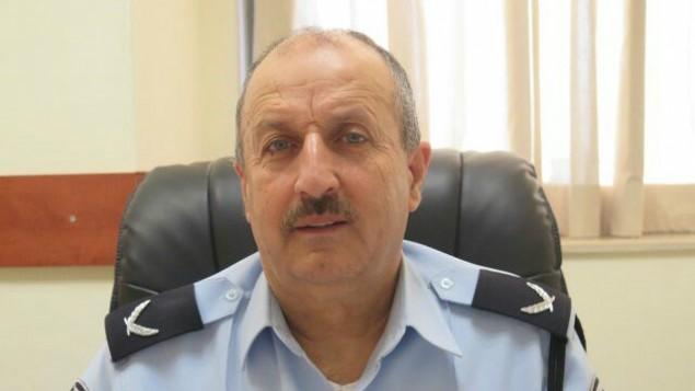 جمال حكروش، اول عربي مسلم يتولى منصب نائب مفوض الشرطة الإسرائيلية، 11 فبراير 2016 (Israel Police)
