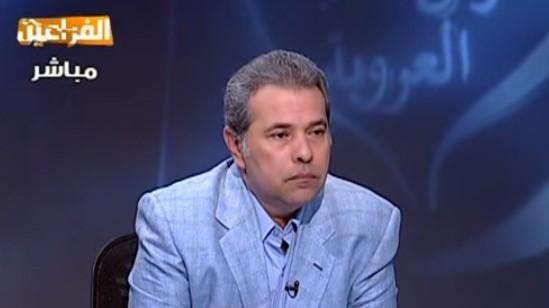 الإعلامي ونائب البرلمان المصري توفيق عكاشة (لقطة شاشة من YouTube)