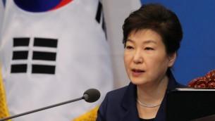 رئيسة كوريا الجنوبية بارك غيون-هيي في سيول، 15 مارس 2016 (YONHAP / AFP)
