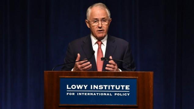 رئيس الوزراء الاسترالي مالكولم ترنبول في سيدني، 23 مارس 2016 (PETER PARKS / AFP)