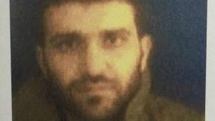 المشتبه الفلسطيني محمد نزال، الذي اعتقلته اسرائيل في شهر يسناير 2016 (Shin Bet)