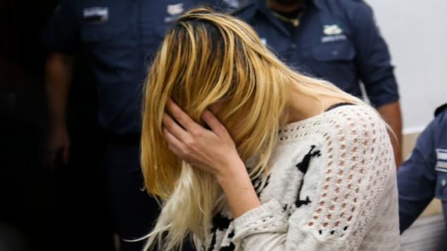 شيري سوبول خلال جلسة في محكمة الصلح في تل ابيب، 19 فبراير 2016 (Flash90)