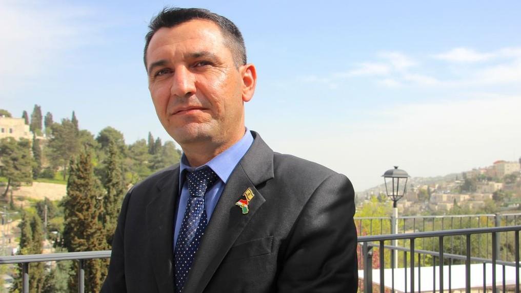 شيرزاد مامساني، مدير الشؤون اليهودية الكردية في حكومة اقليم كردستان، في القدس، 8 مارس 2016 (Dov Lieber/Times of Israel)