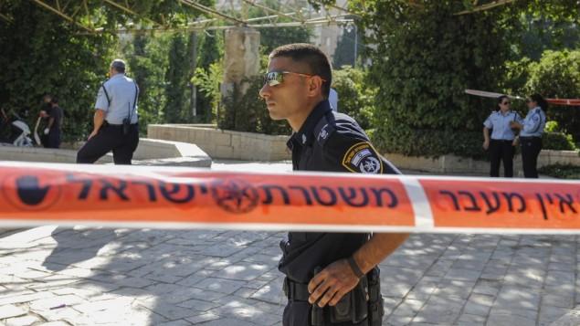 صورة توضيحية لعناصر الشرطة في القدس، 24 يوليو 2013 (Zuzana Janku/Flash90)