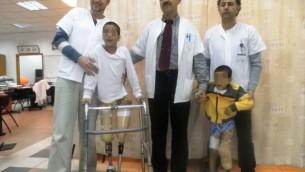 طفل سوري يتلقي العلاج في مركز زيف الطبي في صفد.  (Courtesy: Ziv Hospital)